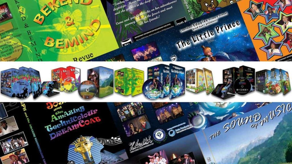 A collage made with DVD covers of some of the musicals filmed by Zikedish.